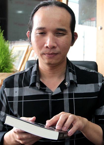 Nhạc sĩ khiếm thị Hà Chương kết hôn năm 2013. Ảnh: Thanh Huyền.