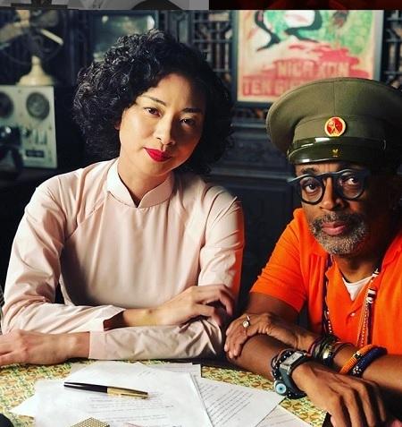 Đạo diễn Spike Lee (phải) cùng Ngô Thanh Vân. Ảnh:Instagram.