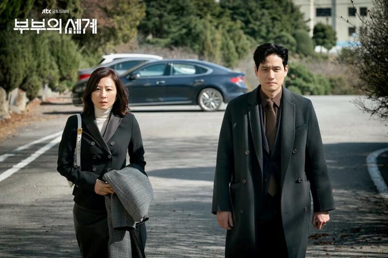 Sun Woo (trái) và Tae Oh trong Thế giới hôn nhân. Ảnh: JTBC.