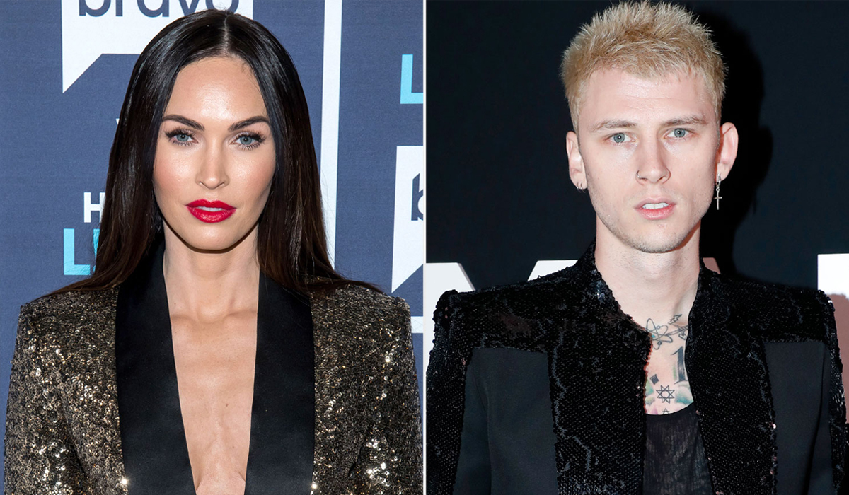 Megan Fox và Machine Gun Kelly (phải). Ảnh: People.