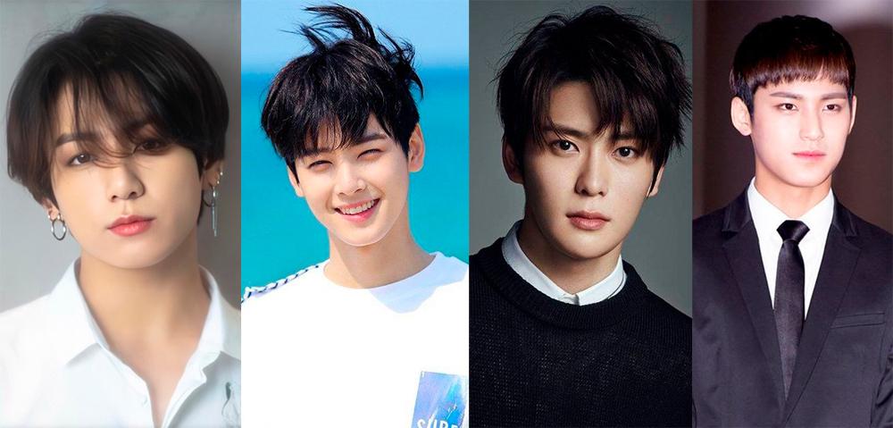 Từ trái sang: Jungkook,Cha Eun Woo,Jaehyun vàMingyu. Ảnh: Naver.