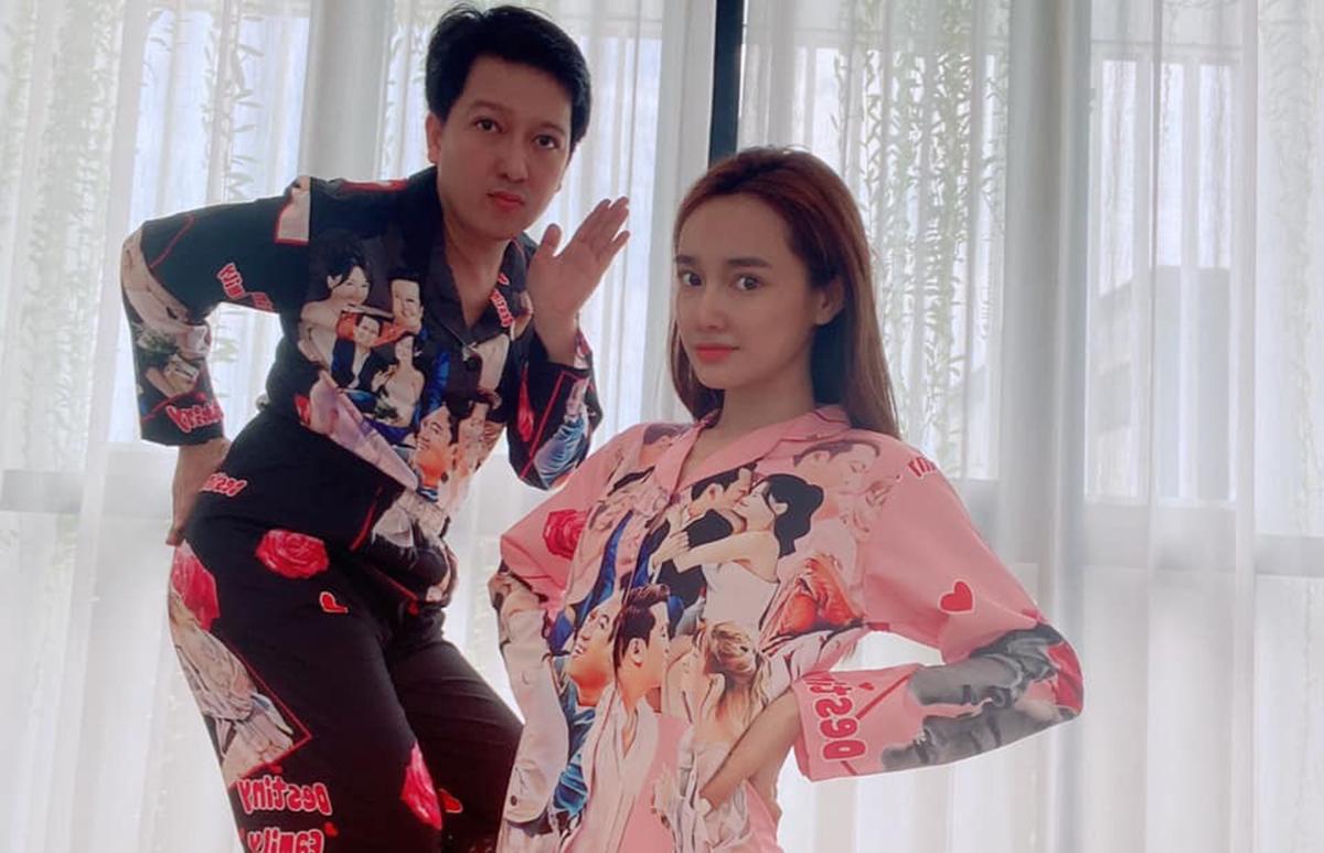 Vợ chồng Nhã Phương - Trường Giang. Ảnh: Facebook.