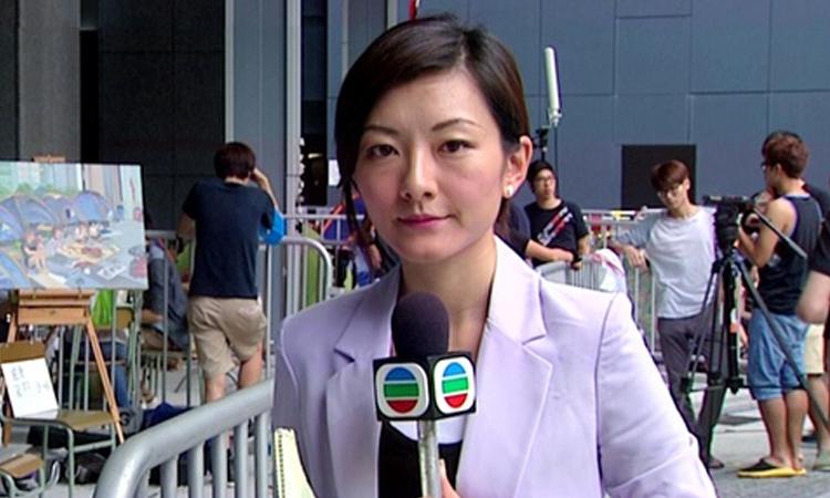 MC Quách Lệ Đình thời còn làm việc cho TVB. Ảnh: ET Today.