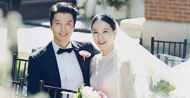 Ảnh cưới Lee Dong Gun,Jo Yoon Hee. Ảnh: Dispatch.
