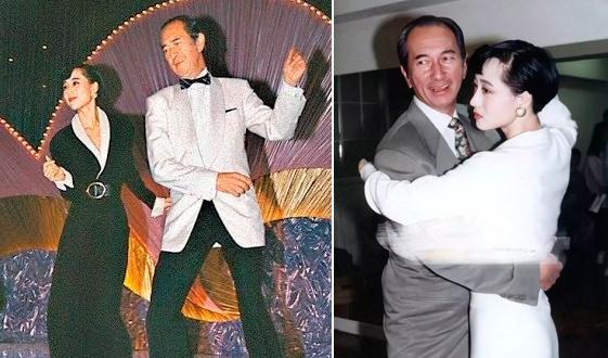 Lợi Trí và ông Hà Hồng Sân trong các buổi khiêu vũ. Ảnh: Sina.