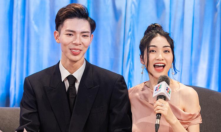 Ca sĩ Erik, Hòa Minzy trong chương trình. Ảnh: Truyền hình FPT.