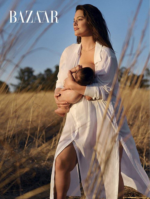 Chồng Ashley Graham - Justin Ervin - chụp ảnh thời trang cho vợ theo đặt hàng của tạp chí Harper's Bazaar Anh.
