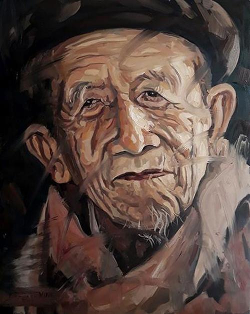 Nhà thơ Nguyễn Đức Sơn (1937-2020) qua nét vẽ Trần Thế Vĩnh.