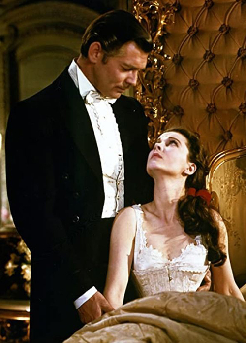 Actors Clark Gable and Vivien Leigh are pictured in a still from the 1939 film Gone with the Wind. (Warner Brothers)