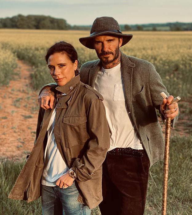 Vợ chồng Beckham trong thời gian cách ly ở Cotswolds, Anh. Ảnh: Instagram.