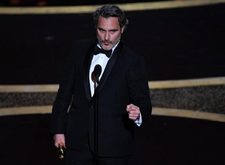 Joaquin Phoenix đoạt giải nam chính ở Oscar 2020.  Ảnh: AFP.