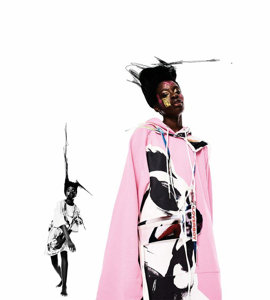 Charles Jeffrey Loverboy đã tận dụng tuần lễ thời trang để nâng cao tiếng nói của người da màu. Ảnh: 10magazine.