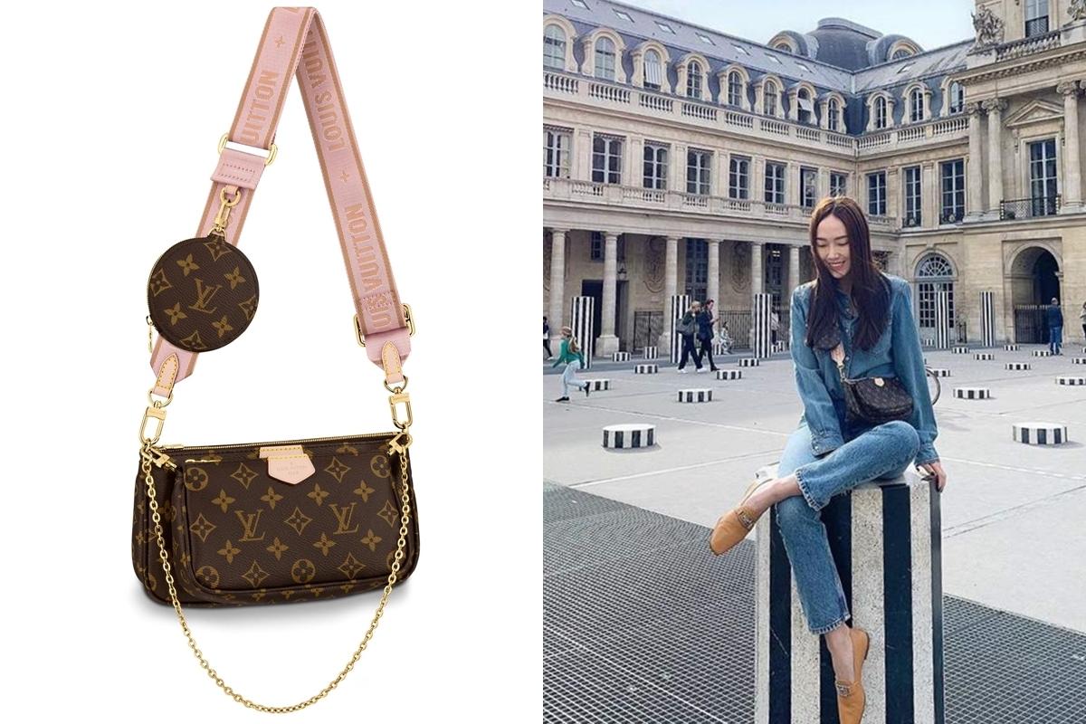 Trên trang cá nhân tháng 10/2019, cô thu hút fan khi đăng ảnh vui chơi, dạo phốParis với mẫu túiMulti Pochette ba trong mộtcủa Louis Vuitton gồm: túi lớn, phiên bản túi nhỏ và ví tròn họa tiết monogram đặc trưng. Theo Purseblog, mẫuMulti Pochette giá 1.550 USD, tương đối thấp so với những dòng khác của Louis Vuitton nhưng hợp thị hiếu cộng đồng yêu hàng hiệu trẻ. Ví tròn có thể điều chỉnh vị trí và phần quai túi nhiều phiên bản màu sắc, giúp tín đồ thời trang sáng tạo phong cách đa dạng.