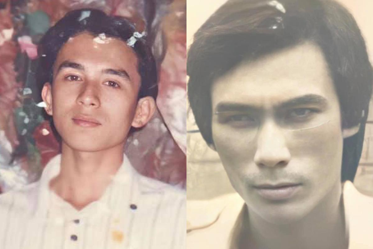 Đan Trường (trái) thời niên thiếu và bố anh. Ảnh: Nhân vật cung cấp.