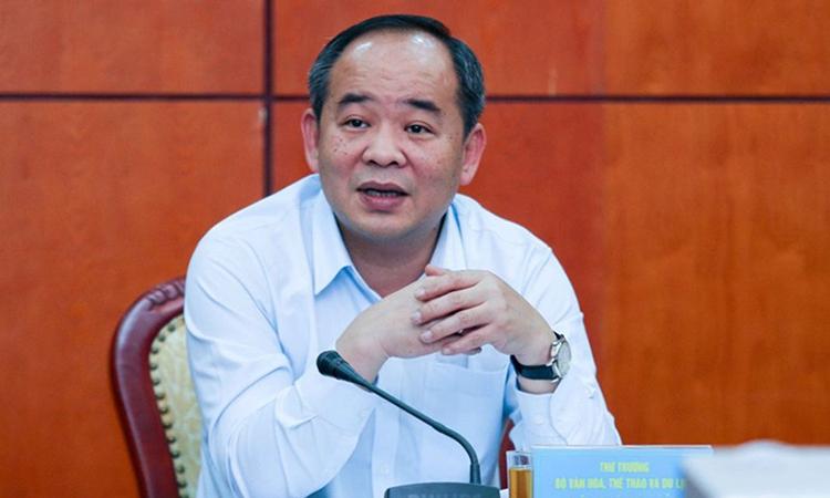 Ông Lê Khánh Hải - Thứ trưởng Văn hoá, Thể thao và Du lịch tại hội thảo. Ảnh: Bộ Văn hoá, Thể thao và Du lịch.