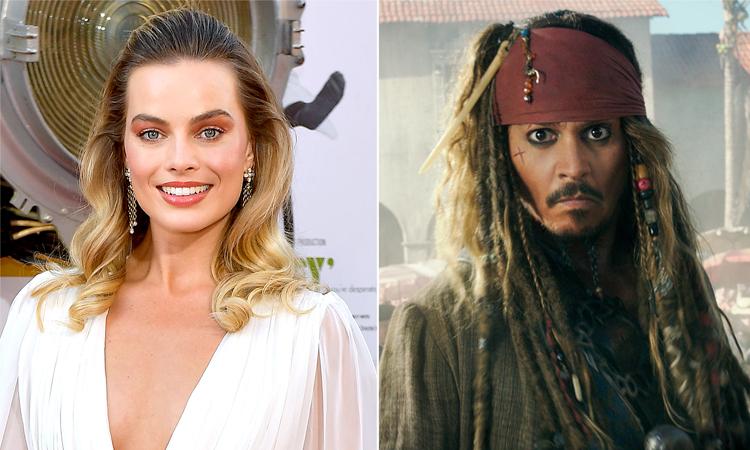 Margot Robbie thay Johnny Depp đóng chính loạt phim Cướp biển vùng Caribe. Ảnh: EW.