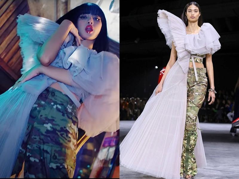 Mỹ nhân đẹp nhất châu Á diện thiết kế phá cách nằm trongbộ sưu tập Off-White Fall 2020.