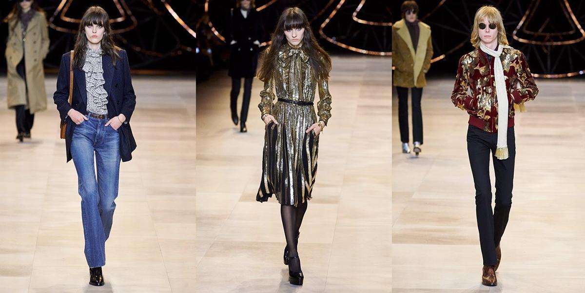 Phong cách của Farrah Fawcett truyền cảm hứng cho bộ sưu tập Thu Đông 2020 của Celine. Ảnh: Gorunway.