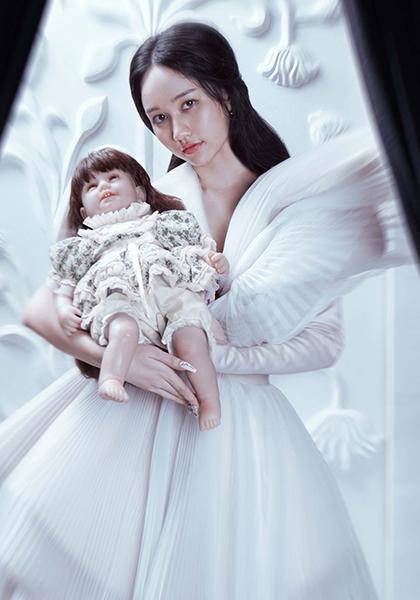 Trúc Anh trong vai Mai Ly - diễn viên chính phim Thiên thần hộ mệnh.
