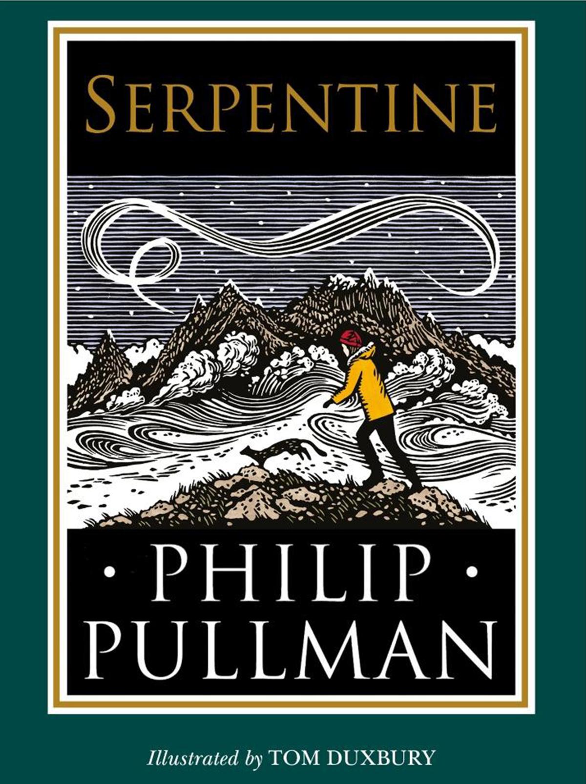 Tiểu thuyết ngắn Serpentine, họa sĩ Tom Duxbury minh họa cho quyển sách. Nữ chủ nhân tượng vàng Oscar 2019 Olivia Colman thu âm phiên bản sách nói.  Ảnh: waterstones.