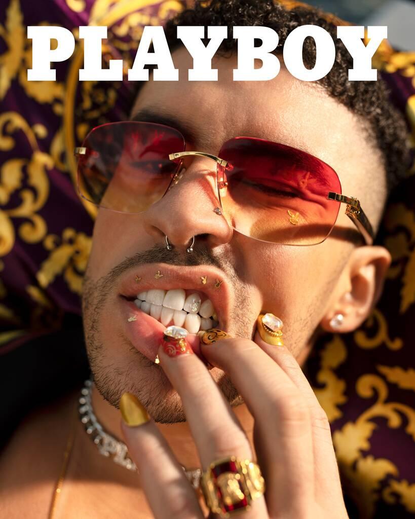 Bad Bunny trên bìa Playboy. Ảnh: Playboy.