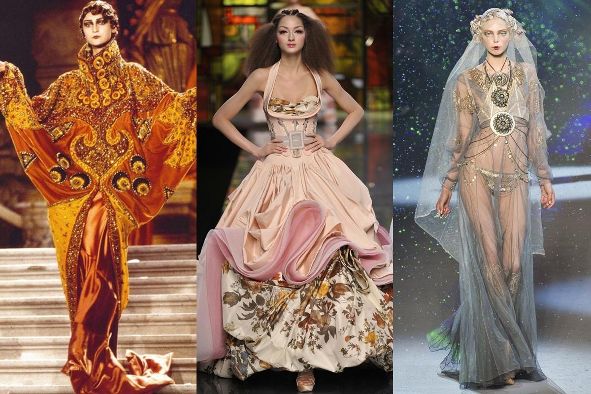 Những thiết kế mang đậm dấu ấn của John Galliano dành cho Dior. Ảnh: Guy Marineau.