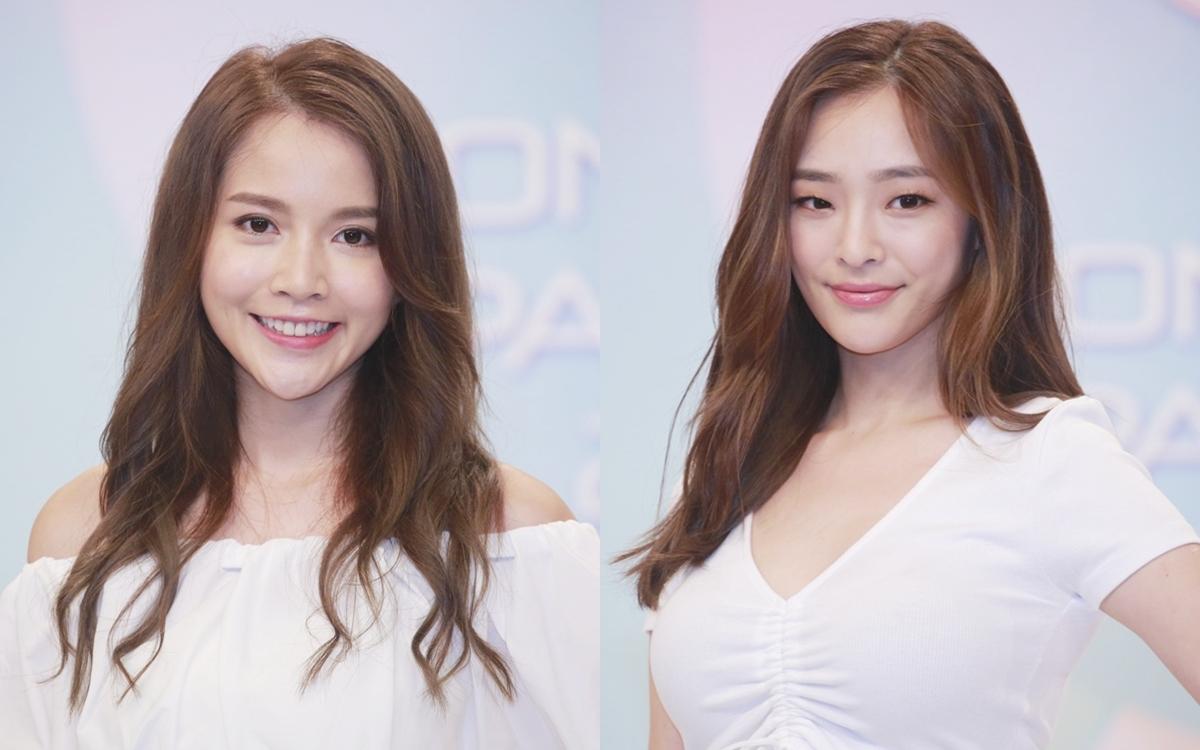Tất Hú Ngưng (Amber Chan) (trái), 24 tuổi, hiện công tác trong lĩnh vực tài chính. Cô cao 1, 62 m và nặng 43,3 kg. Trần Thực Di (Celina Harto), 23 tuổi, cao 1,71 m và nặng 49,5 kg.