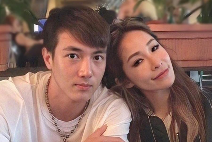 Tiêu Á Hiên và bạn trai Hoàng Hạo. Chuyện tình nàng 40 chàng 24 gây nhiều chú ý của truyền thông và người hâm mộ. Ảnh: Weibo.