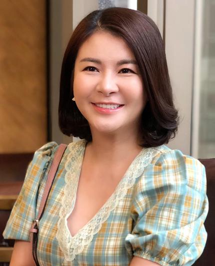 Kim Oanh ở tuổi ngoài 40. Ảnh: Thanh Thanh.