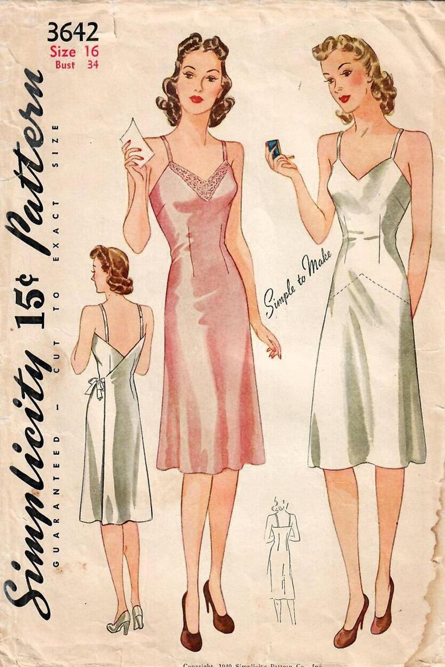Trong những năm 1940, váy ngủ được nâng lên một tầm cao mới với chất liệu sang trọng, thêm chi tiết trang trí và đường cắt cải biên để có thể diện ra đường như một bộ cánh thời trang. Từ đó, váy ngủ đi lên sàn diễn, vào trong phim ảnh, đời sống như một thiết kế thời trang.