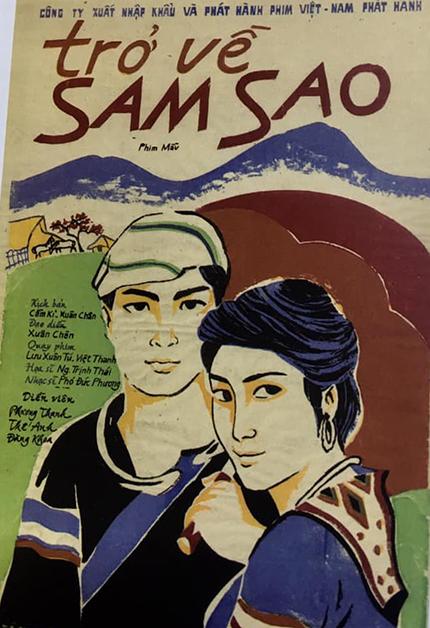 Áp phích phim Trở về Sam Sao. Ảnh tư liệu do hoạ sĩ Tô Chiêm chụp lại.