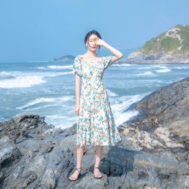 Váy retro thích hợp dạo phố, đi biển - 12