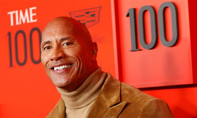 Dwayne Johnson tại lễ vinh danh 100 người ảnh hưởng nhất thế giới do tạp chí Time bình chọn năm 2019. Ảnh: Reuters.