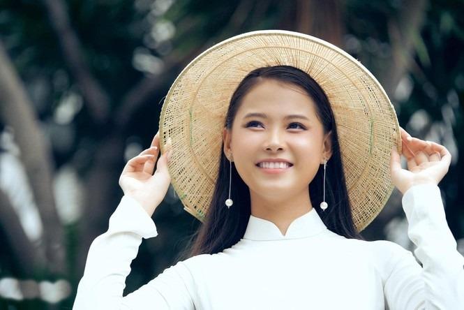 Thùy Dương cao 1,70 m, số đo ba vòng: 87- 62-95 cm. Ảnh: Hoa hậu Việt Nam.