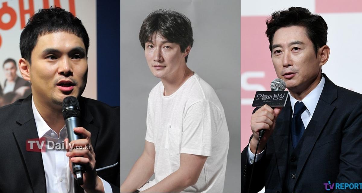 Từ trái qua: Seo Sung Jong, Heo Dong Won, Kim Won Hae lần lượt công bố nhiễm Covic-19. Ảnh: TVDaily, TVReport.