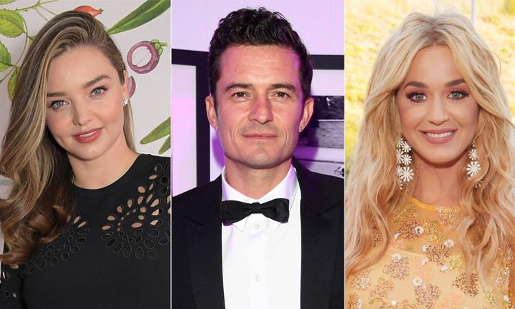Miranda Kerr, Orlando Bloom và Katy Perry (thứ tự từ trái qua). Ảnh: People.