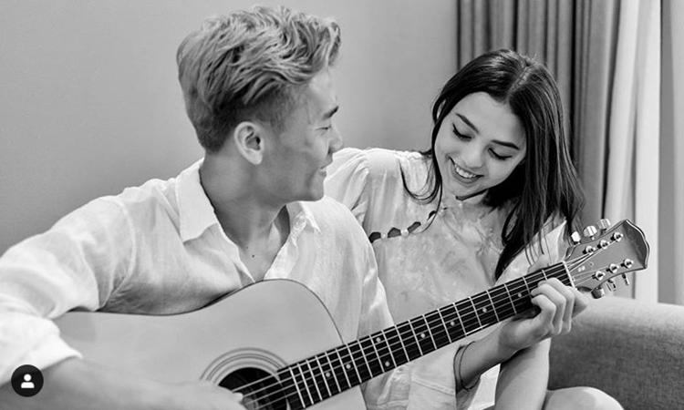Bùi Tiến Dũng và Dianka Zakhidova được nhiều fan khen đẹp đôi. Ảnh chụp màn hình Instagram Bùi Tiến Dũng.