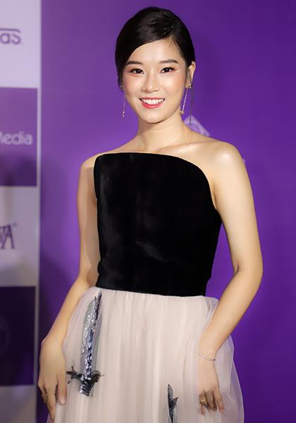 Hoàng Yến Chibi tại buổi ra mắt trực tuyến phim Người cần quên phải nhớ, hôm 6/9. Ảnh: Phúc Trần.