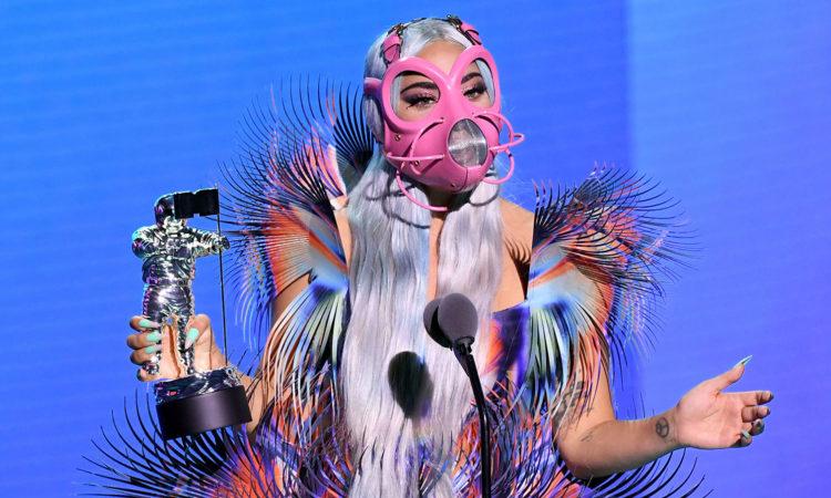 Lady Gaga tại sự kiện VMAs 2020. Ảnh: MTV.