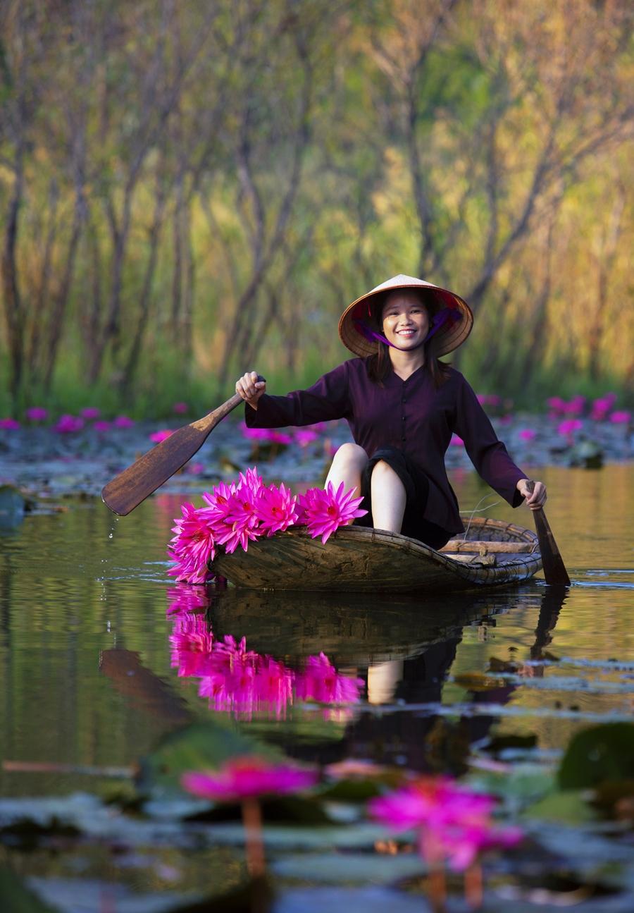 Tác phẩm Mùa thu suối Yến của tác giả Nguyễn Hữu Thông.