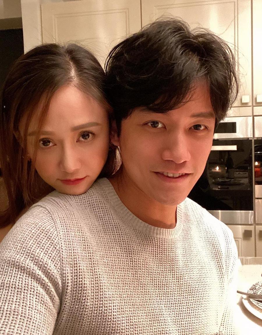 Trần Kiều Ân và Alan được khen đẹp đôi dù diễn viên hơn bạn trai chín tuổi. Ảnh chụp màn hình Instagram Joe Chen.
