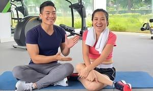 Quốc Cơ hướng dẫn vợ giảm cân