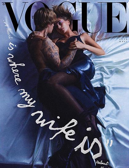 Vợ chồng Justin Bieber chụp ảnh thời trang. Ảnh: Vogue Italy.