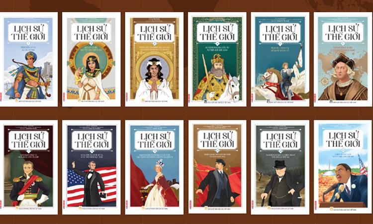Bộ truyện tranh Lịch sử thế giới gồm 12 tập. Ảnh: Edibooks.