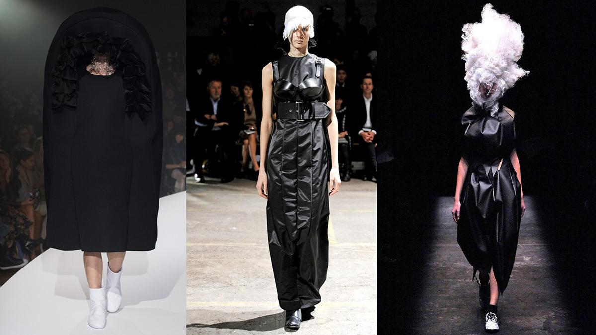 Theo Latimes, fan cuồng của Rei Kawakubo cho rằng chính bà đã sáng tạo ra màu đen với khả năng biến hóa trang phục đa dạng với màu sắc này. Ảnh: Indigital.
