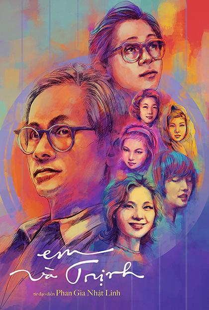 Poster phim Em và Trịnh. Ảnh: Galaxy.