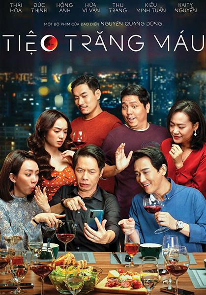 Bảy diễn viên chính trong poster Tiệc trăng máu. Ảnh: HK Films.