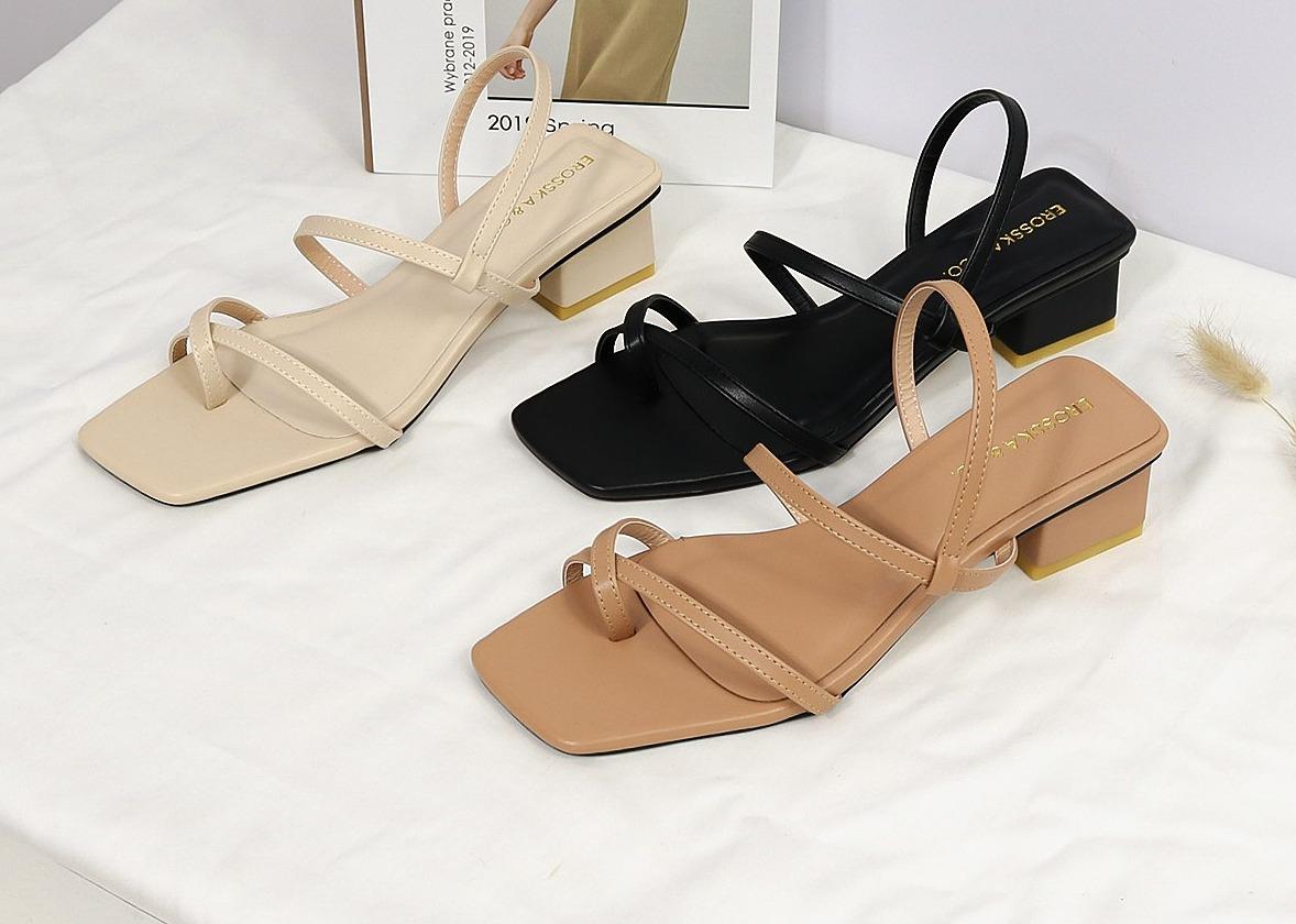 Erosska fashion high-heeled sandals with flanges, 5cm high heels EB024 320.000đ225.000