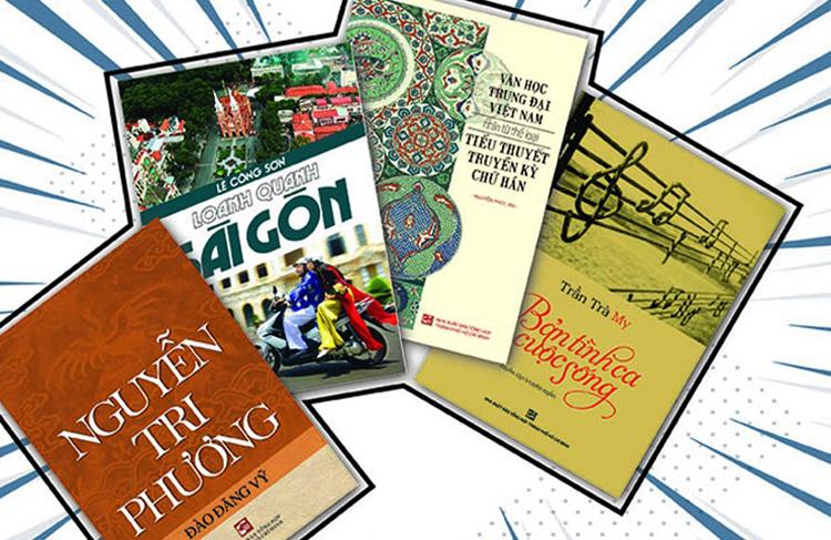 Một vài tác phẩm trong Tuần lễ sách hay lần thứ 14. Sự kiện diễn ra từ ngày 31/10 đến ngày 7/11 tại Nhà sách Tổng Hợp 1 (quận 1) và Nhà sách Tổng Hợp 2 (quận 4), TP HCM.
