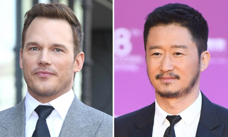 Chris Pratt (trái) và Ngô Kinh đóng chính bản remake Vệ sĩ Sài Gòn của Hollywood. Ảnh: Mega/AP.